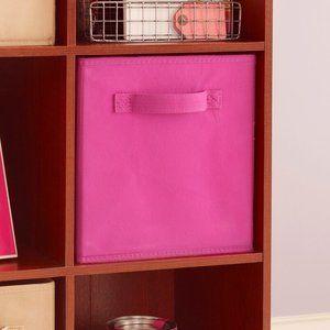 Cubeicals Closetmaid Fuschia Fabric Drawer x2